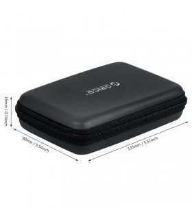 Husa protectie HDD SSD 2.5 Orico 135x90x19mm neagra PHB-25-BK