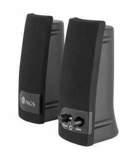 Boxe multimedia 2.0 3.5mm Jack USB silver/negru 2x2W SB150 NGS