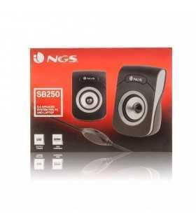 Boxe multimedia 2.0 USB Jack 3.5mm silver/negru 2x3W SB250 NGS