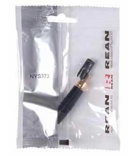 Conector phono aurit negru Neutrik