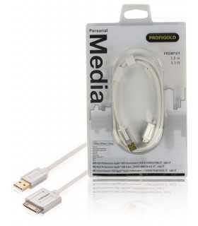 Cablu Apple iPad iPhone - USB de inalta calitate 1m alb Profigold