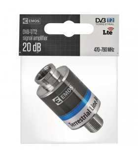 Amplificator de linie semnal DVB-T DVB-T2 20dB 470-790MHZ J5709 EMOS