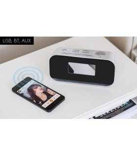 Radio cu ceas si alarma Bluetooth Intrare Aux-in USB Kruger&Matz