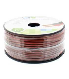 Cablu difuzor rosu/negru OFC cupru 2x0.35mm Well