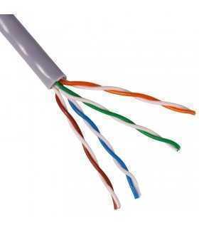 Cablu UTP CAT5e aluminiu cuprat litat multifilar CCA 1m Chrome