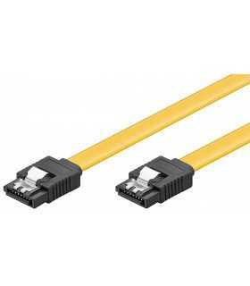Cablu HDD SATA tata - SATA tata 6Gbit/s 10cm galben Goobay