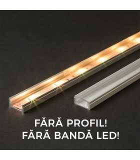 Ecran transparent pentru profil aluminiu LED 2000mm 41010T2 Phenom