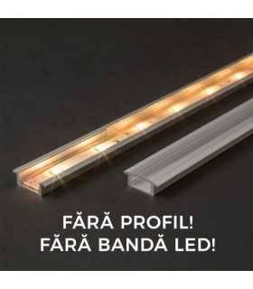 Ecran transparent pentru profil aluminiu LED 2000mm 41011T2 Phenom