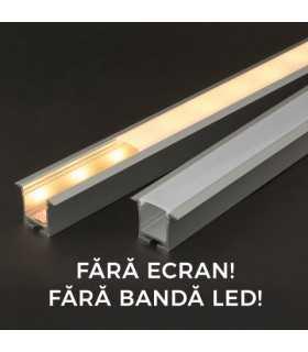 Profil aluminiu pentru benzi LED 35x28mm 1m PHENOM