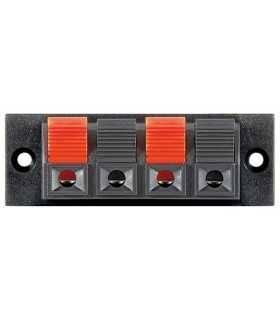 Terminal difuzor 4 poli de tip push rosu/negru panou Goobay