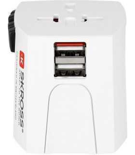 Adaptor priza Skross Universal cu 2 porturi USB