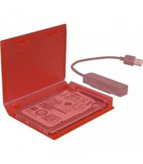 Cutie protectie hard disk 2.5 inch rosie Inter-Tech KP001A