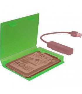 Cutie protectie hard disk 2.5 inch verde Inter-Tech KP001A