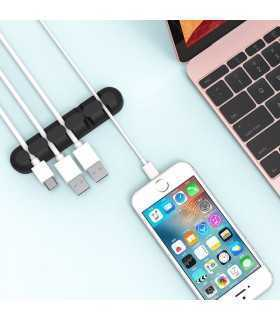 Suport cabluri 5 locasuri Orico CBS5 negru 96x20x12mm