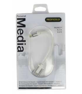 Adaptor Profesional mini DisplayPort - DisplayPort v1.1 0.2m alb Profigold