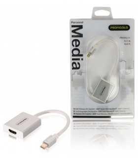 Adaptor Profesional mini DisplayPort - HDMI v1.1 0.2m alb Profigold