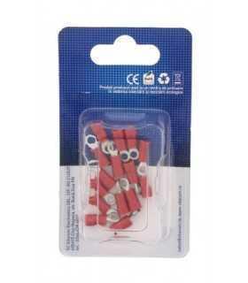 Conector rotund papuc 3.2mm rosu