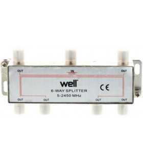 Splitter CATV 6 cai 5-2450Mhz Well