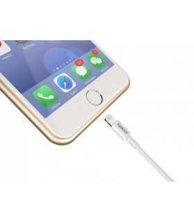 Cablu USB 2.0 A tata - Lightning 1m alb DC210 Apacer