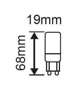 Bec LED G9 6W 3000K alb cald 550lm V-TAC