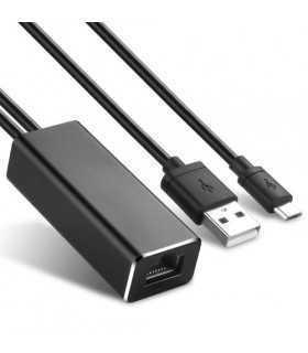Adaptor Chromecast cu alimentare USB la Ethernet 100Mbps