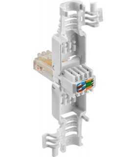 Mufa retea RJ45 8P8C Cat5e neecranat conectare fara scule Goobay