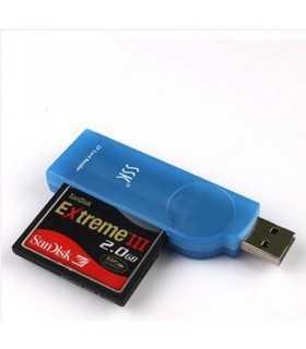 Card reader USB 2.0 CF I CF II Ultra II CF Extreme CF Extreme III CF/MD SSK SCRS028