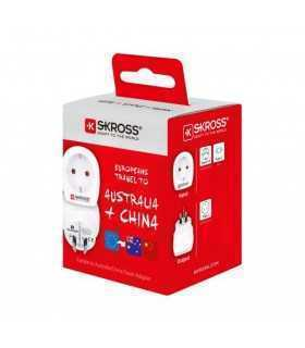 Adaptor priza Skross EU - Australia China