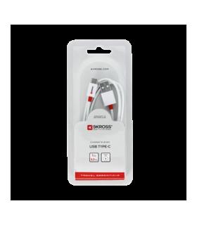 Cablu USB - 2in1 Lightning micro USB alb 1m Skross Essentials Line