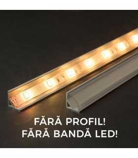 Ecran transparent pentru profil aluminiu LED 2000mm