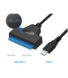 """Convertor USB Type C - SATA 22 pini max 6TB HDD 2.5"""" si SSD"""