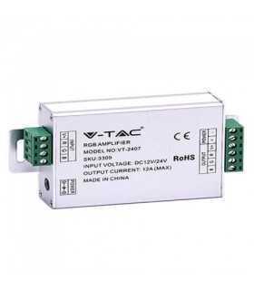 Amplificator banda LED RGB 12/24VDC 12A 3 canale x4A V-TAC