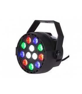 Proiector jocuri de lumini mini LED 9x 1W RGB +3x 1W alb Velleman