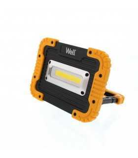 Proiector LED portabil cu baterie 4x AA 10W 600lm IP44 Well