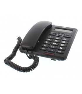Telefon cu fir de masa cu afisaj negru CD001 Well