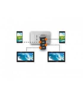 Alimentator USB 230V TA 480 USB 4 iesiri 4.8A negru Trevi