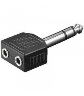 Adaptor Jack 6.35mm la 2x3.5mm mama stereo Goobay
