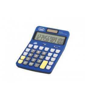 Calculator de birou EC 3775 12 digit baterie +solar albastru Trevi