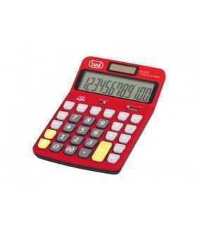 Calculator de birou EC 3775 12 digit baterie +solar rosu Trevi
