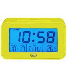 Ceas desteptator cu LCD SLD 3P50 termometru calendar galben Trevi