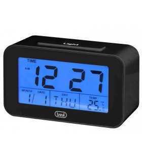 Ceas desteptator cu LCD SLD 3P50 termometru calendar negru Trevi