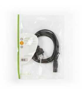 Cablu alimentare Euro cotit tata - 2 pini IEC-320-C7 2m Nedis