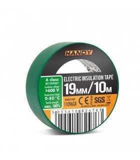 Banda izolatoare 19mm x 10m Verde Handy