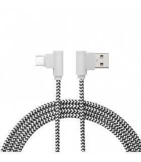 Cablu de date USB type C 90 grade 2m alb delight