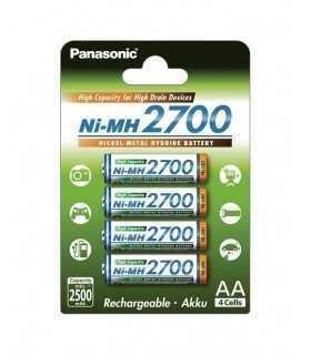 Acumulatori AA NIMH 2700mAh R6 4buc PANASONIC
