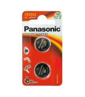 Baterii CR2032 Panasonic 3V LITHIUM 20x3.2mm 2buc blister