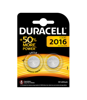 Set 2 baterii CR2016 DURACELL litiu 3V