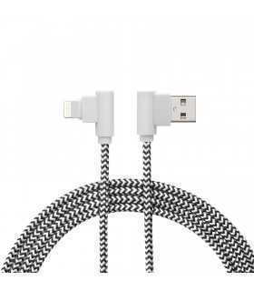 Cablu de date iPhone Lightning 90 grade 2m textil delight