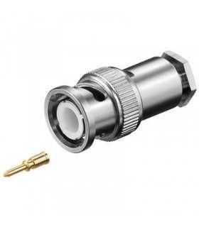 Mufa BNC tata pentru cablu RG58U montare prin insurubare Goobay