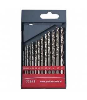 Set burghie metal HSS 135 in casetaI 1.5-6.5mm 13 piese PROLINE